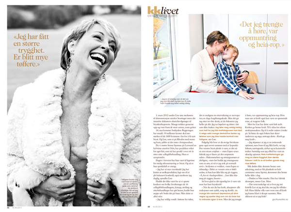 Radio personality Lise Askvik for KK magazine, Norway.